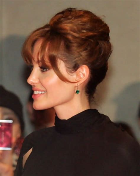 french twisted bangs angelina jolie long hairstyle french twist pretty designs