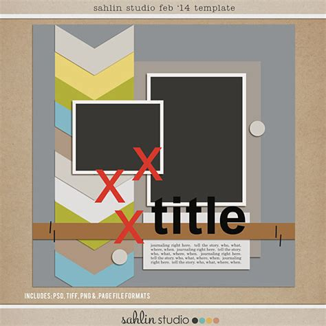 Free Digital Scrapbooking Template Feb 2014 Sahlin Studio Digital Scrapbooking Designs Digital Scrapbooking Templates