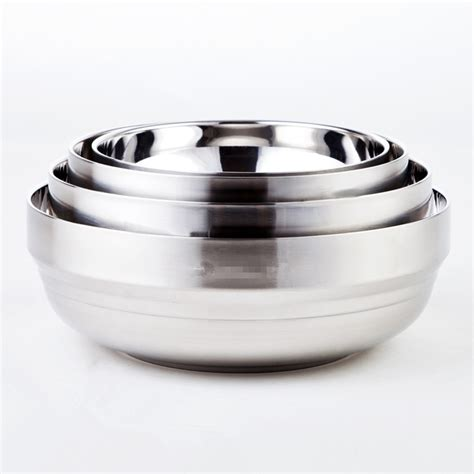 Stainless Bowl Mangkok Stainless 20cm Vavinci high quality diameter 14cm 20cm safe wall thermal insulation stainless steel bowl soup