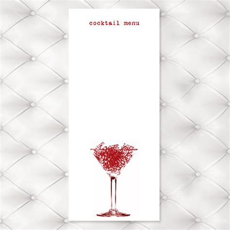 cocktail list template cocktail menu templates free