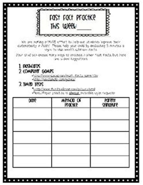 Parent Letter About Math Facts Basic Facts Sheet With Websites Listed For Practice Math Ideas Money Math