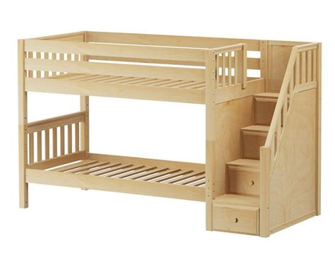 maxtrix stacker low bunk bed with stairs matrix