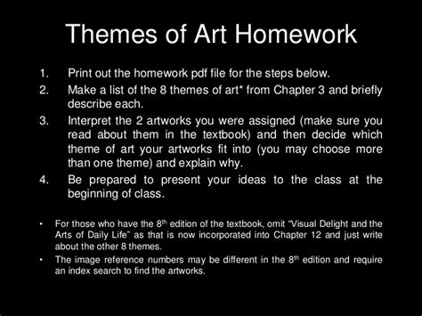themes list for art themes of art questionnaire artworks