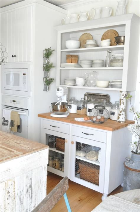Antique Style Kitchen Cabinets Go Vintage With Antique Cabinet For Chic Kitchen Homesfeed