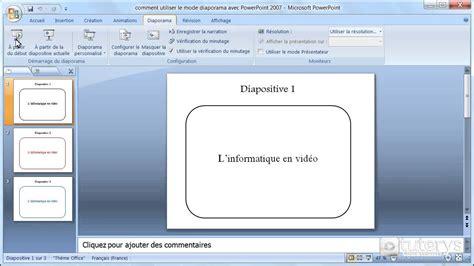 les themes de powerpoint 2007 comment utiliser le mode diaporama avec powerpoint 2007