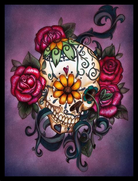 candy skulls tattoos sugar skull on sugar skull dia de and
