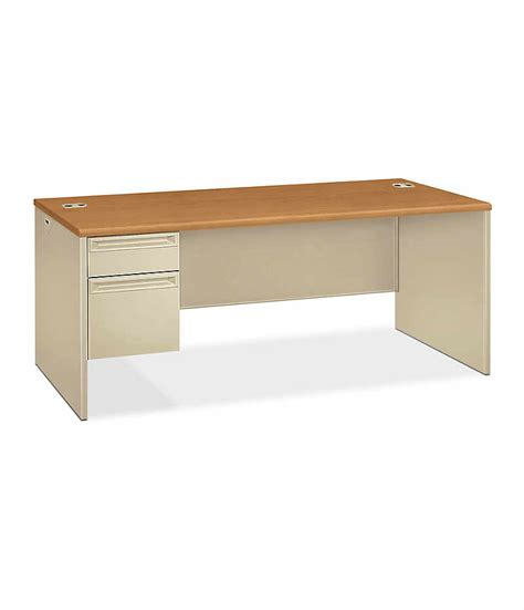 Hon Office Desks 38000 Series Left Pedestal Desk H38294l Hon Office Furniture