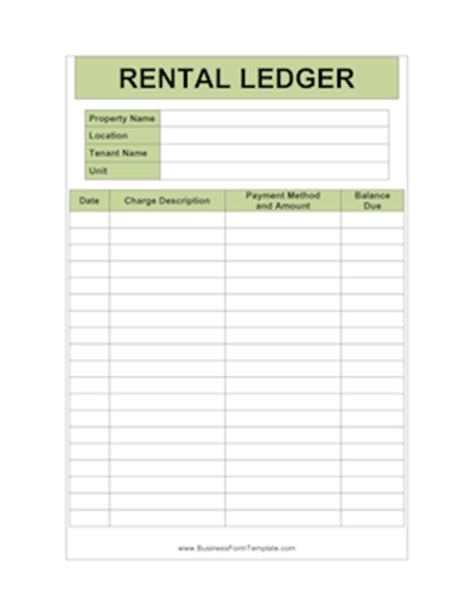 Rental Property Record Keeping Template New Printable Business Forms For Landlords And More