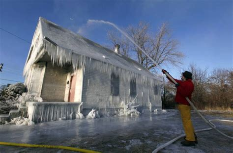 Frozen House by Homeowner Traps Burglar Unconfirmed Breaking News A
