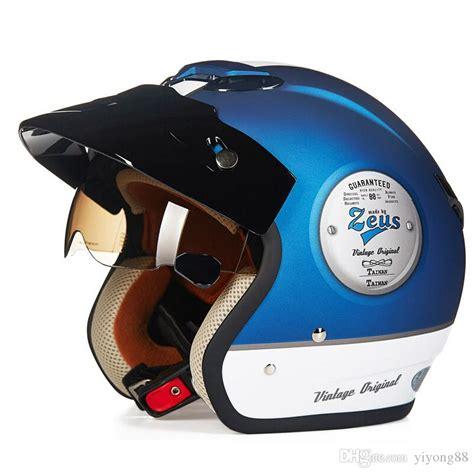 Helm Zeus Retro fashion for halley zeus 381c 3 4 helmet vintage motorcycle