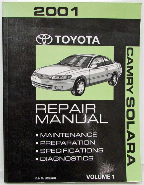 electric and cars manual 2001 toyota solara head up display 2001 toyota camry solara service shop repair manual set vol 1 2