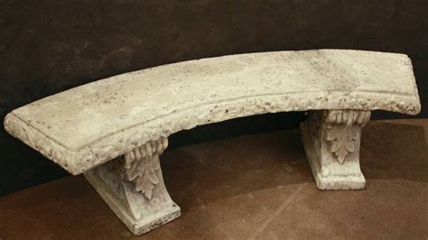 stone curved bench large english curved garden stone bench at 1stdibs