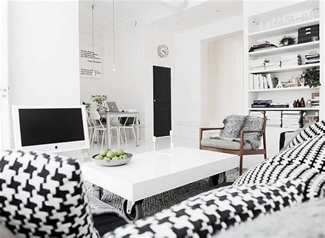 Black And White Home Interior by Another Black And White Interior Design