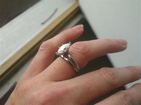 white gold and titanium side by side pics weddingbee