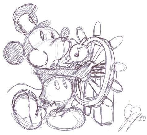 steamboat cartoon drawing steamboat willie drawing hey mickey pinterest
