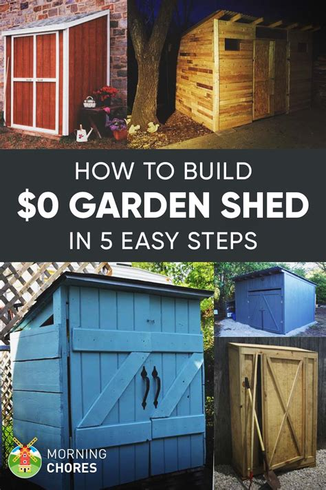 build   garden storage shed