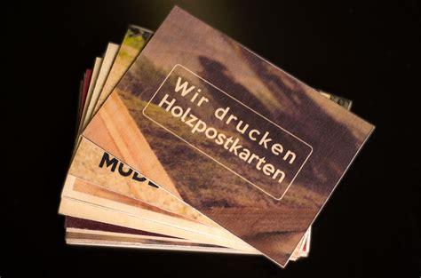 Holz Postkarten Drucken Lassen by Druck Auf Holz Holzpostkarten
