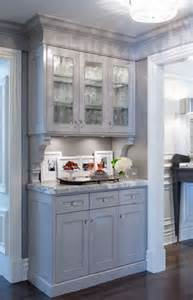 kitchen gray built in china cabinet butler pantry cabinet