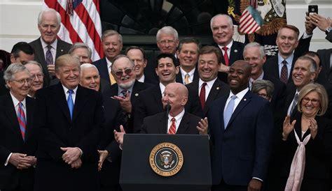gop tax bill trump  signed shows republicans