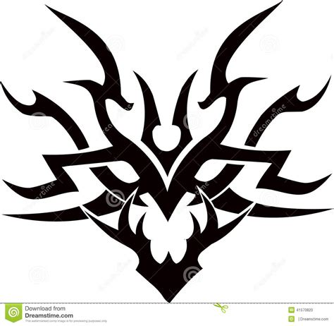 tribal tattoo vectorial tribal vector design illustration stock vector