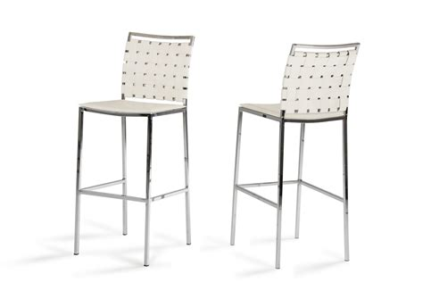 Occasional Pale Stool by Shasta Modern White Eco Leather Bar Stool Set Of 2