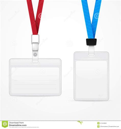 Template For A Badge Card Holder by Lanyard With Tag Badge Holder Stock Illustration Image