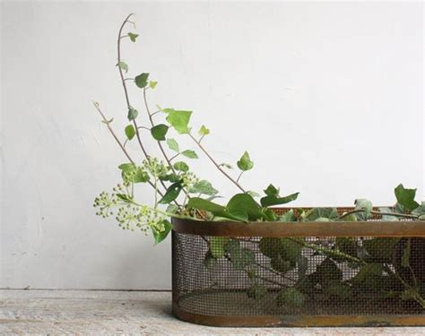 window sill planter indoor vintage brass and metal planter tray window sill box for