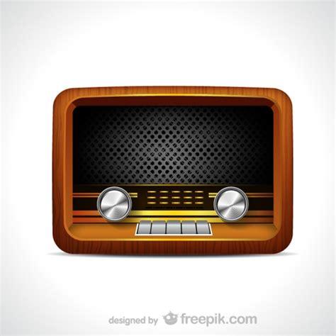 imagenes radio retro vector de radio vintage descargar vectores gratis
