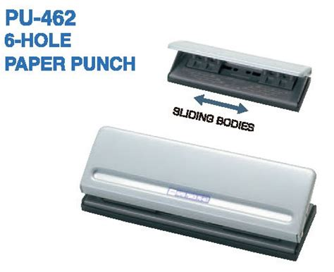 Open Paper Punch Pu 88 open japanese brand 6 holes punch pu 462 9 sheets of 64 gsm papers ebay