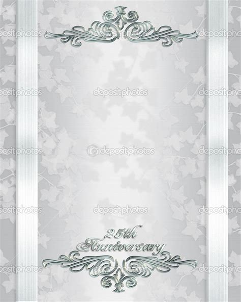 silver wedding invitation templates free 25th wedding anniversary invitations free templates