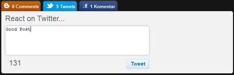 cara membuat kotak twitter di blog cara membuat komentar blog twitter dan facebook