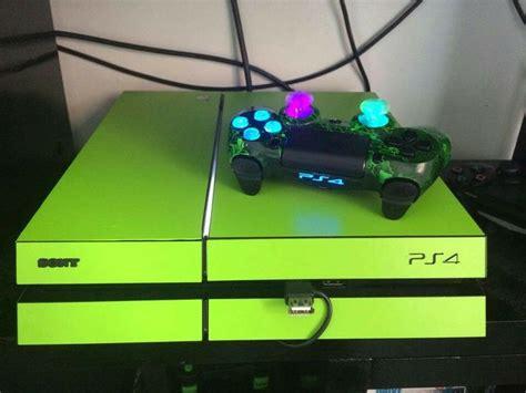 custom neon green ps4 sony neon neon