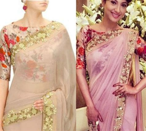 Floral Print Blouse Material For Saree beautiful floral print blouse designs south india fashion