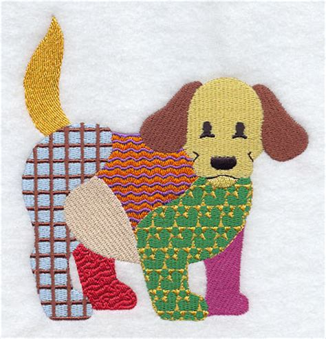 Patchwork Puppy - machine embroidery designs at embroidery library