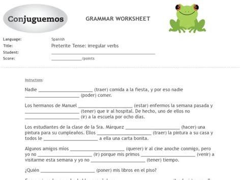 Irregular Preterite Worksheet by Worksheets Preterite Worksheet Opossumsoft Worksheets