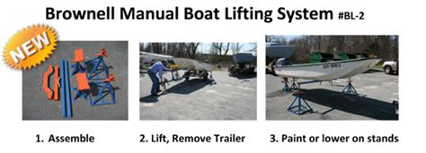 brownell manual boat lifting system manual boat lifting system brownell boat stands inc