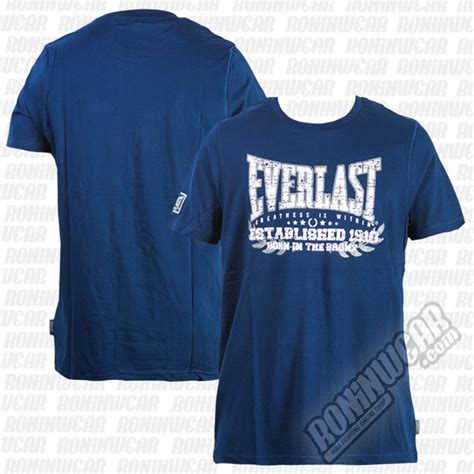 Tshirt Mizuno Navy B C everlast evr4429 t shirt bleu marine