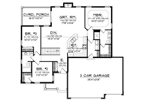square feet of 3 car garage eplans craftsman house plan affordable but spacious