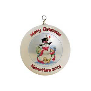 personalized frosty the snowman christmas ornament 1