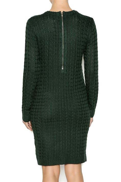 Montana Sweater Dress thereal by paper crane cable knit sweater dress from