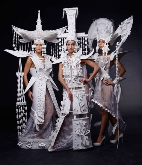 Mongolian Culture Essay by Paper Made Mongolian Couture Diy Paper Costumes
