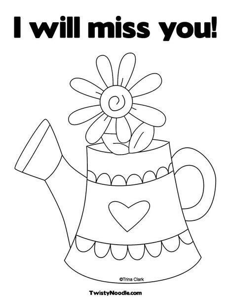 we miss you coloring cards coloring pages