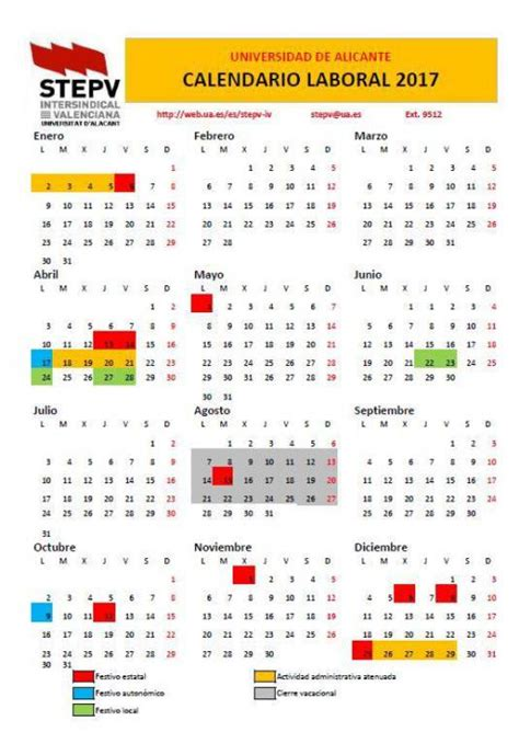 Calend Escolar 2018 Ua Calendario 2018 Alicante 28 Images Calendario Escolar