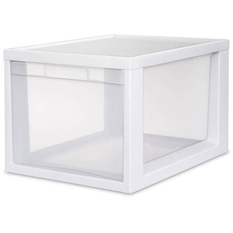 Sterilite Plastic Drawer by Sterilite Wide 3 Drawer Unit White Available In Of