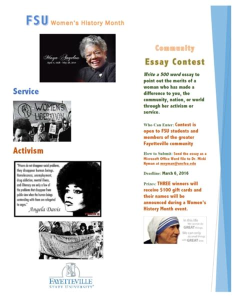 A Difference Essay Competition by Reminder S History Month Essay Contest Fsu News