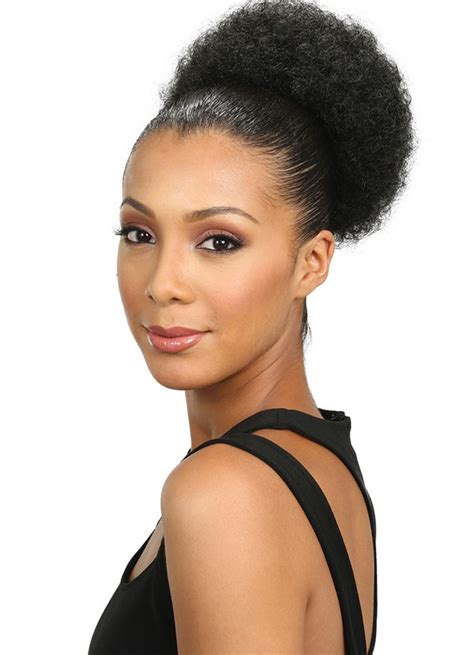 Small Afro Puff Buns Hair Pieces | bobbi boss speedy up do top bun drawstring s afro pom small