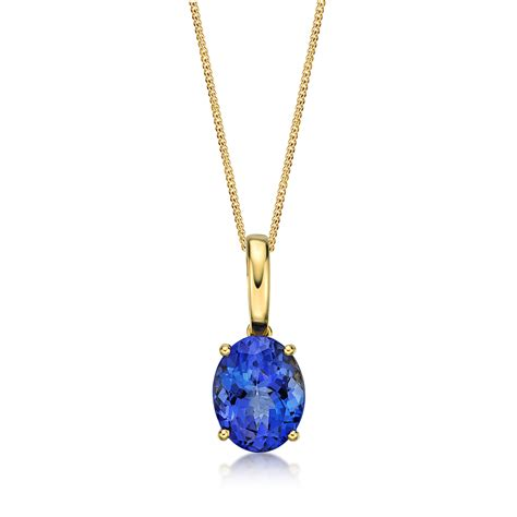 jewelry pendants premier oval solitaire tanzanite pendant richland gemstones