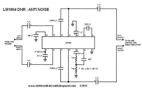Diy Pcb Dan Komponen 12v 45w Stereo Bridge Lifier S 101 Saturn audio kreatif dnr lm1894 penekan desis anti noise