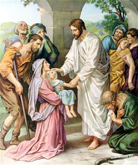 10 To 15 Persons Mat by Bible Matthew 15 Jesus Heals Many Bible