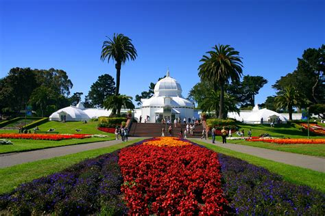 San Francisco Flower Garden Conservatory Of Flowers